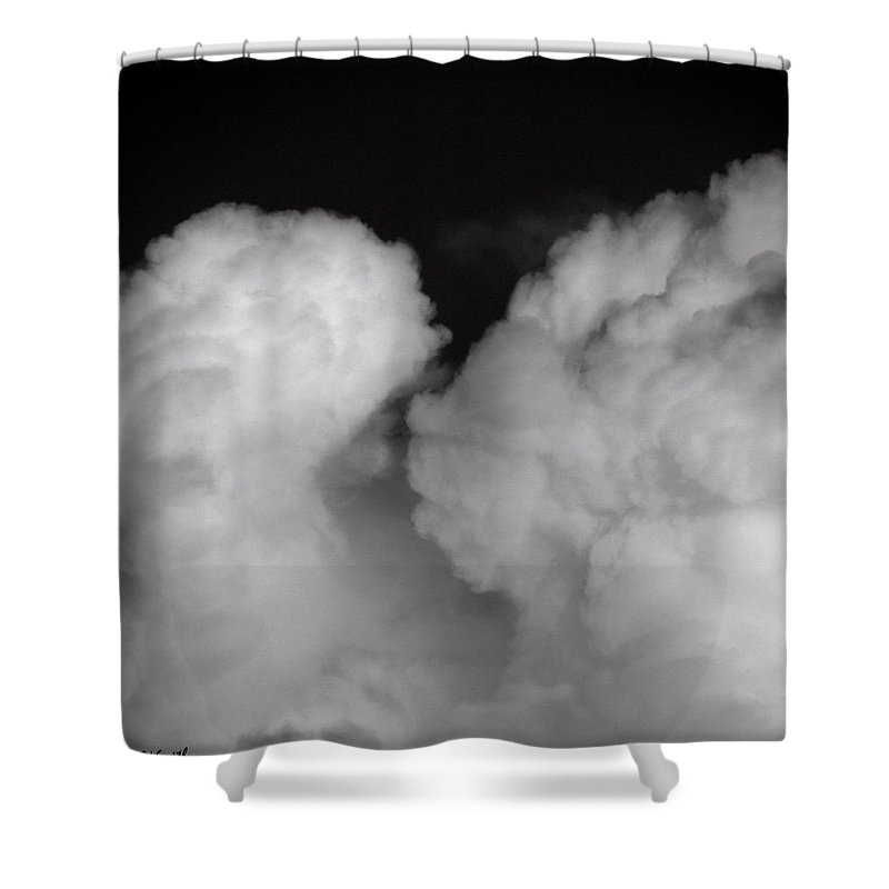 The Kiss Shower Curtain featuring the photograph The Kiss by Edward Smith