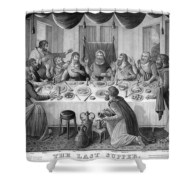 1835 Shower Curtain featuring the photograph The Last Supper by Granger