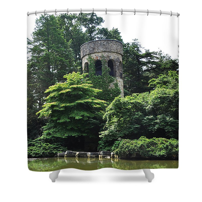 The Longwood Gardens Castle Shower Curtain featuring the photograph The Longwood Gardens Castle by Bill Cannon