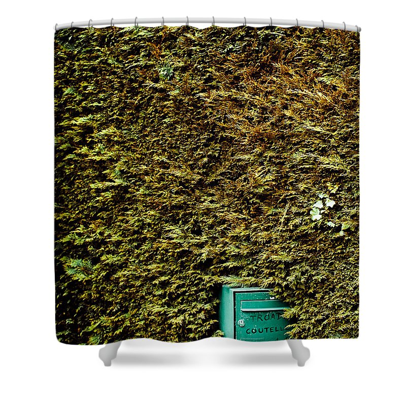 Shower Curtain featuring the photograph The Mail Box by Olivier De Rycke