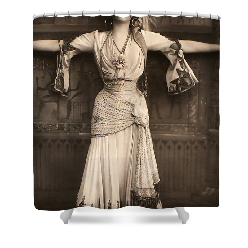 Merry Widow Gabrielle Ray Stage Actress Woman Female Girl Singer Dancer English Shower Curtain featuring the photograph The Merry Widow by Steve K