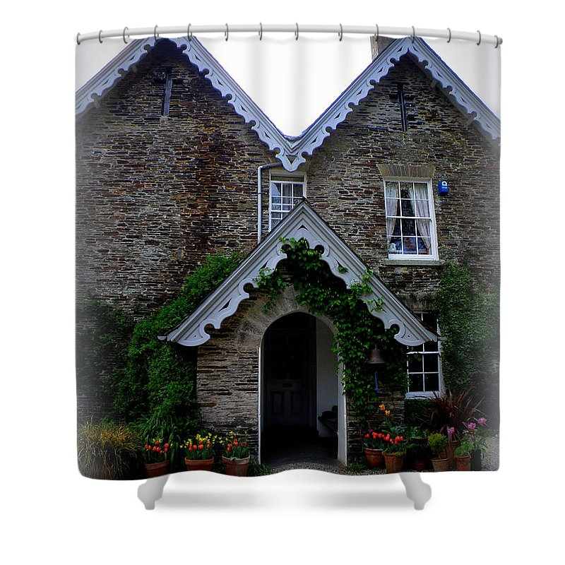 The Old Rectory Shower Curtain featuring the photograph The Old Rectory At St. Juliot by Lainie Wrightson