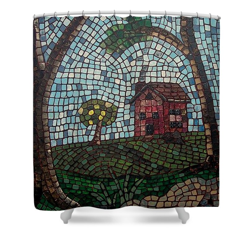 Koi Shower Curtain featuring the painting The Pond by Cynthia Amaral
