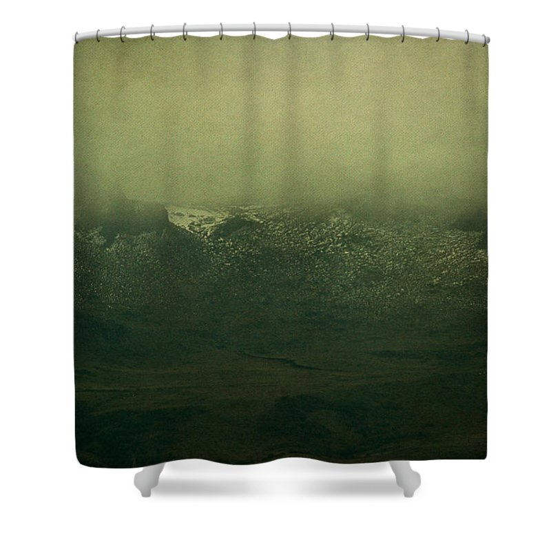 Landscape Shower Curtain featuring the photograph The Rare Old Mountain View by Osvaldo Hamer
