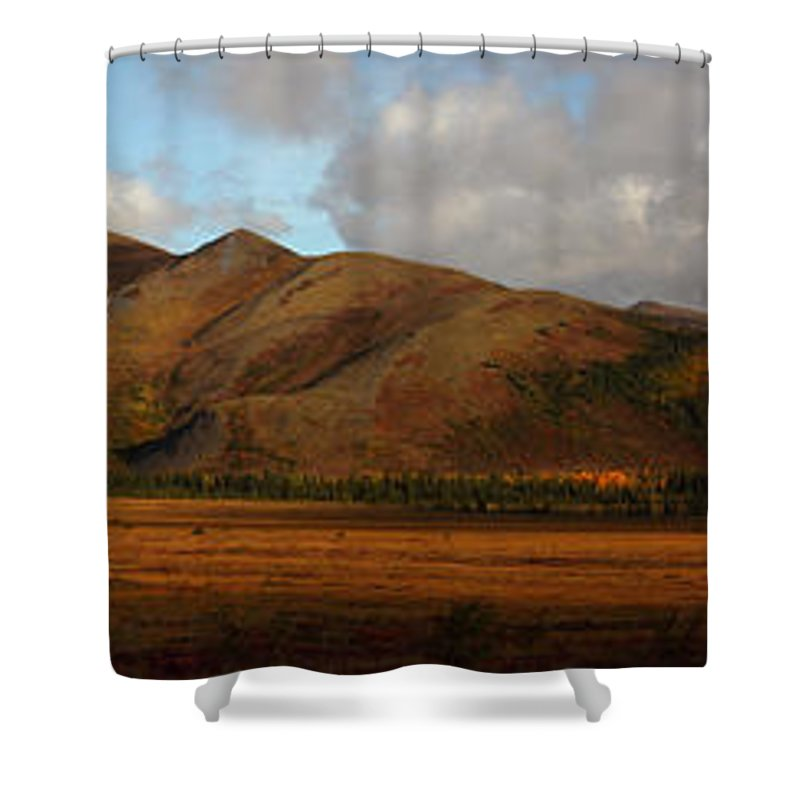 Light Shower Curtain featuring the photograph The Richardson Mountains At The Arctic by Robert Postma