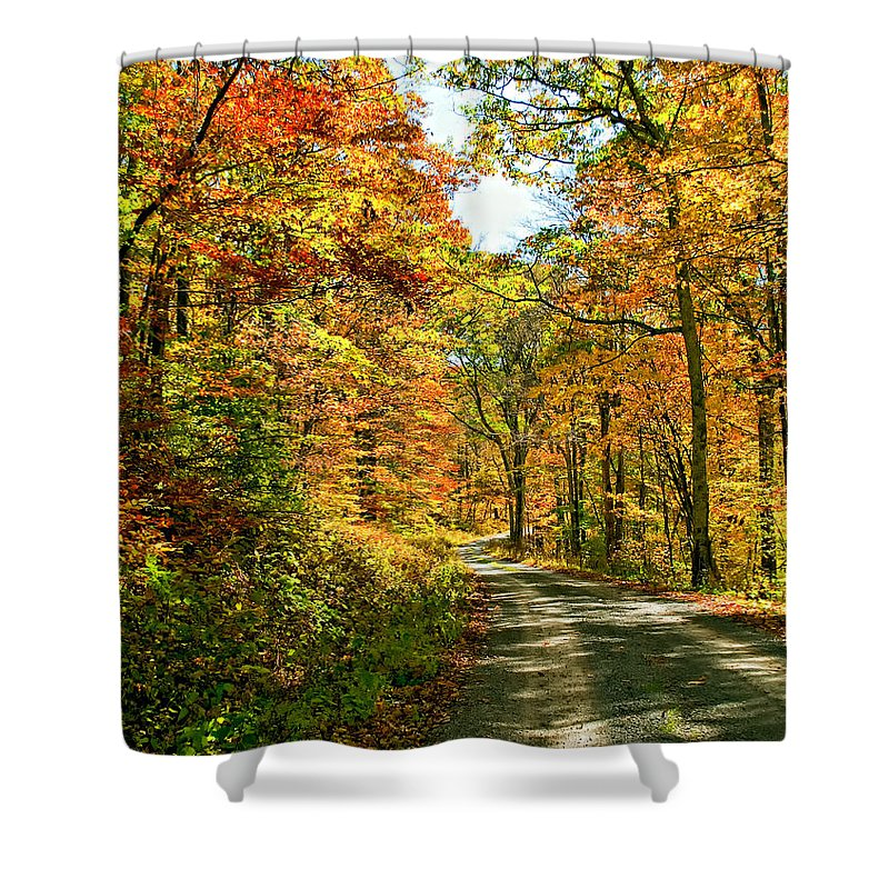 West Virginia Shower Curtain featuring the photograph The Road Less Traveled by Steve Harrington