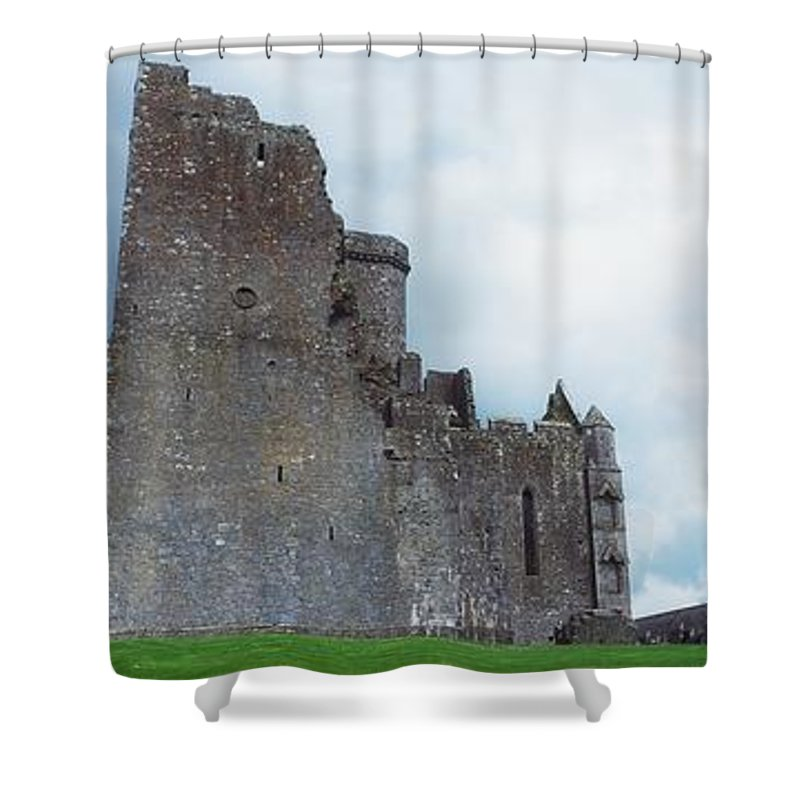 Architectural Detail Shower Curtain featuring the photograph The Rock Of Cashel, Co Tipperary by The Irish Image Collection