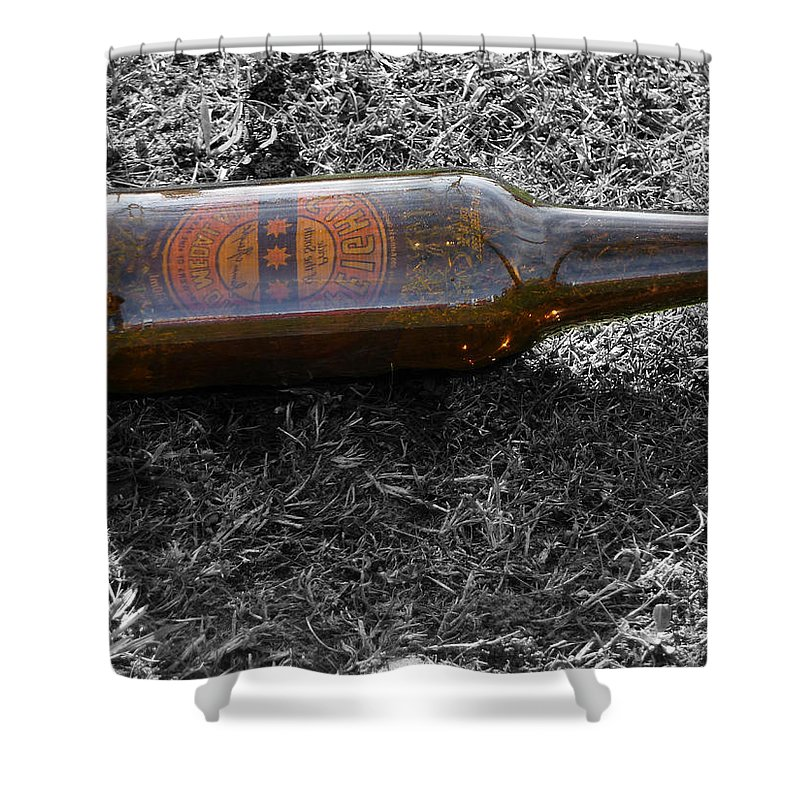 Beer Shower Curtain featuring the photograph The Self Portrait by Steve Taylor