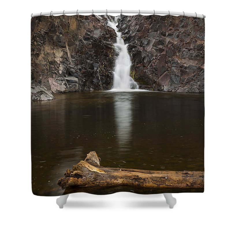 The Shower Curtain featuring the photograph The Shallows Waterfall 2 by John Brueske