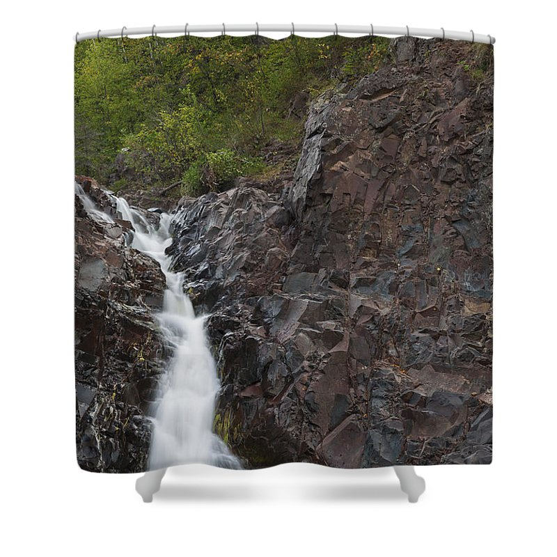 The Shower Curtain featuring the photograph The Shallows Waterfall 4 by John Brueske