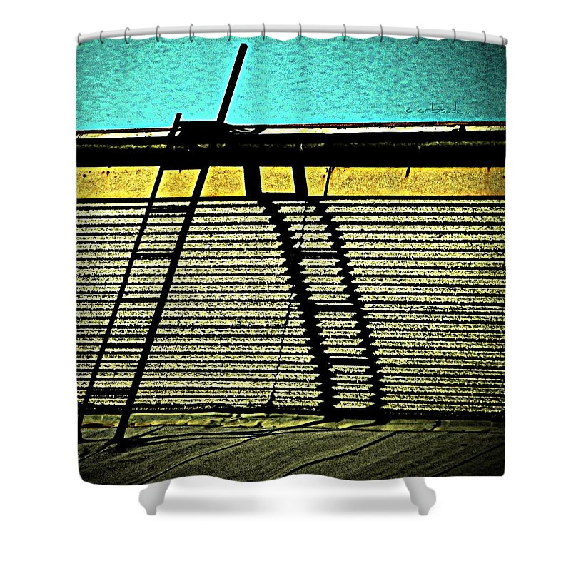 Urban Shower Curtain featuring the photograph The Sky Is The Limit by Chris Berry