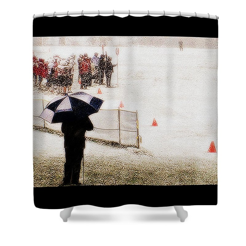 Groton School Shower Curtain featuring the photograph The Snow Game by Marysue Ryan