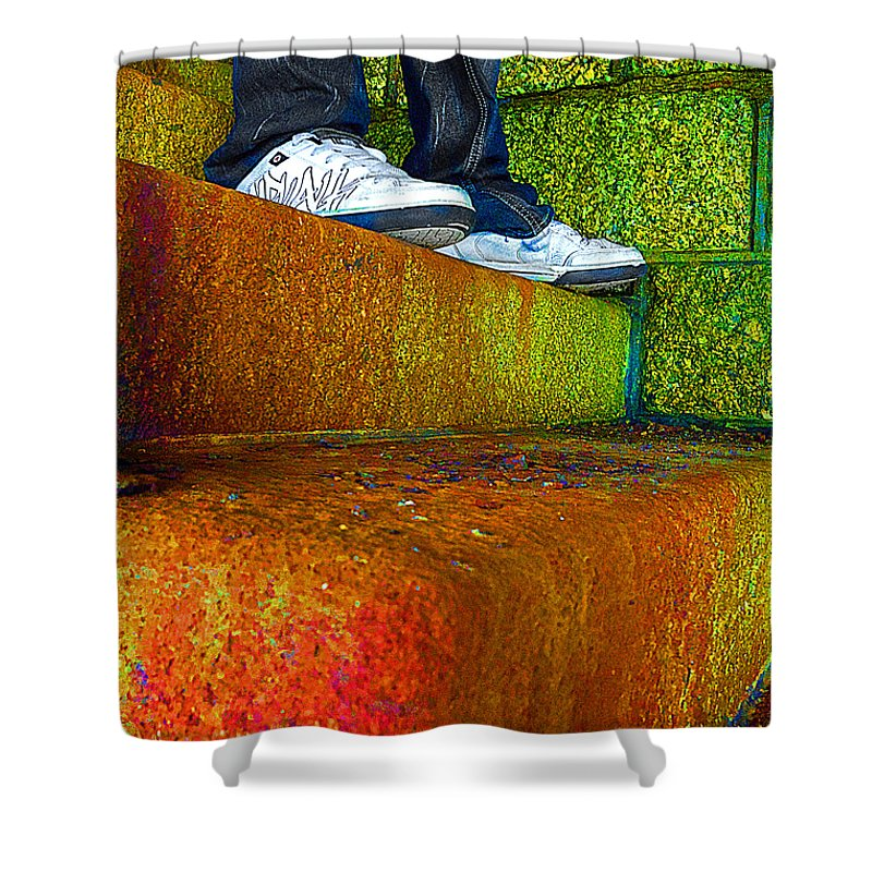Steps Shower Curtain featuring the photograph The Steps by Rob Hawkins