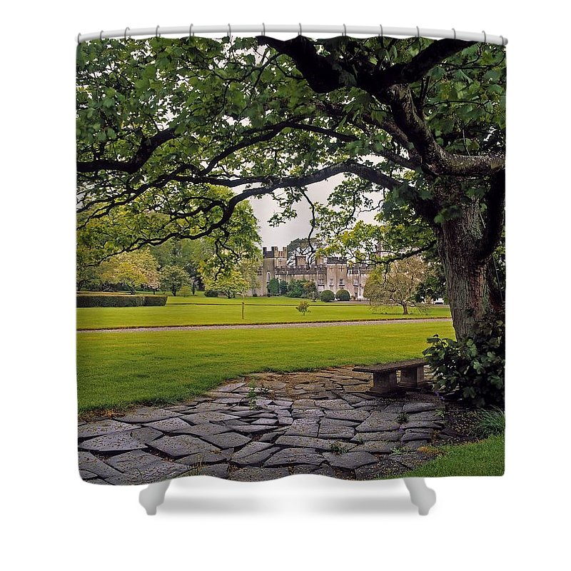 Archaeology Shower Curtain featuring the photograph The Sundial Terrace, Glin Castle, Co by The Irish Image Collection