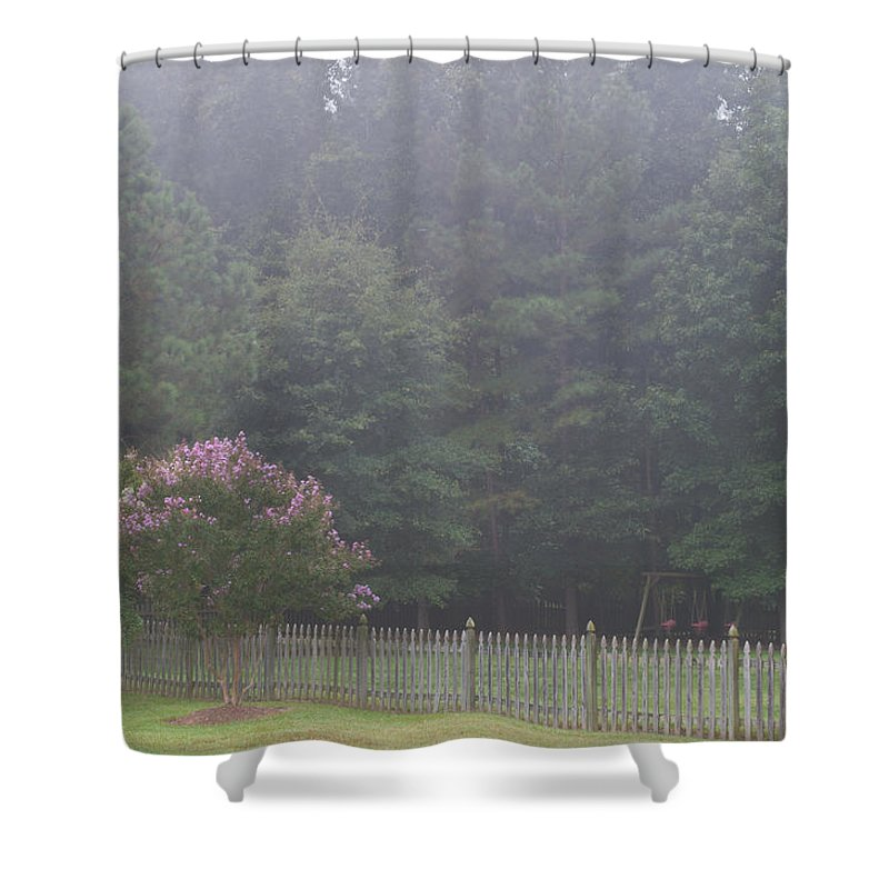 Nature Shower Curtain featuring the photograph The Swing Set by Paulette B Wright