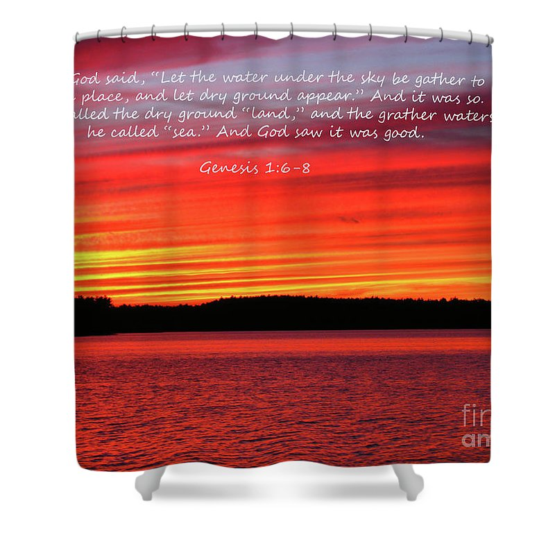 Sky Shower Curtain featuring the photograph The Third Day by Donna Brown