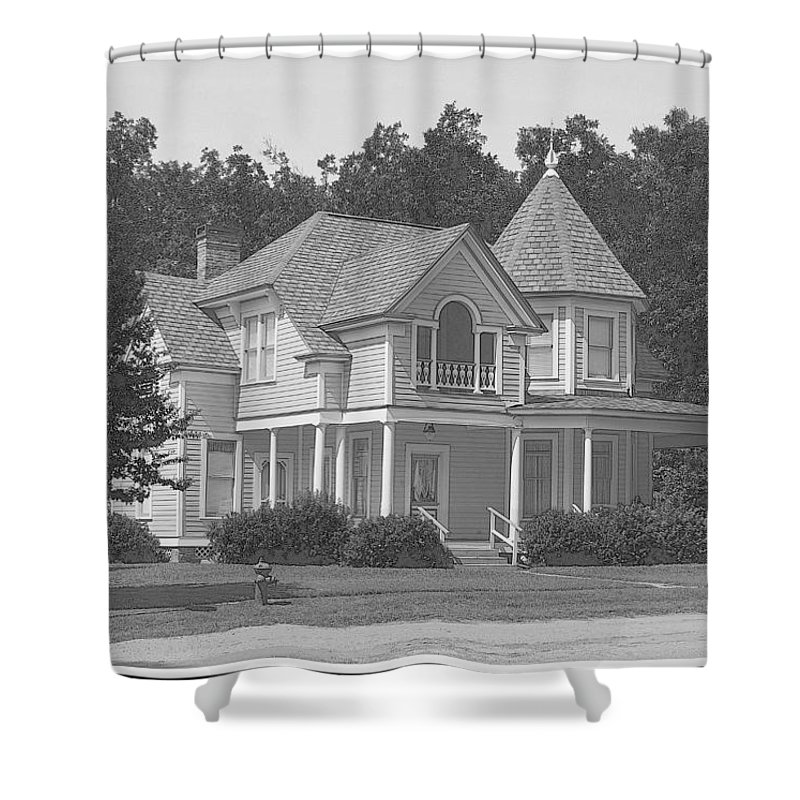 Turret Shower Curtain featuring the photograph The Turret Room by Betty Northcutt