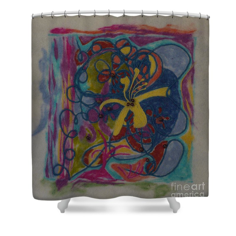 Colorful Shower Curtain featuring the painting The Way Of The World by Heather Hennick