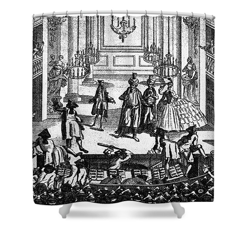 1763 Shower Curtain featuring the photograph Theater: Covent Garden by Granger