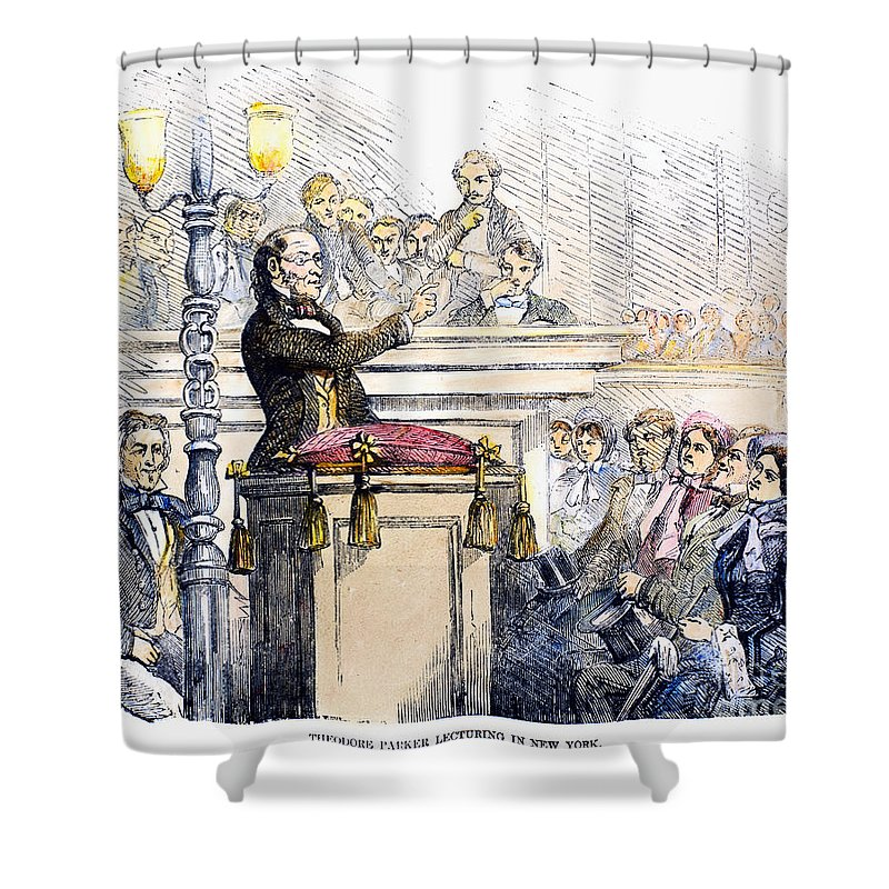 1856 Shower Curtain featuring the photograph Theodore Parker (1810-1860) by Granger