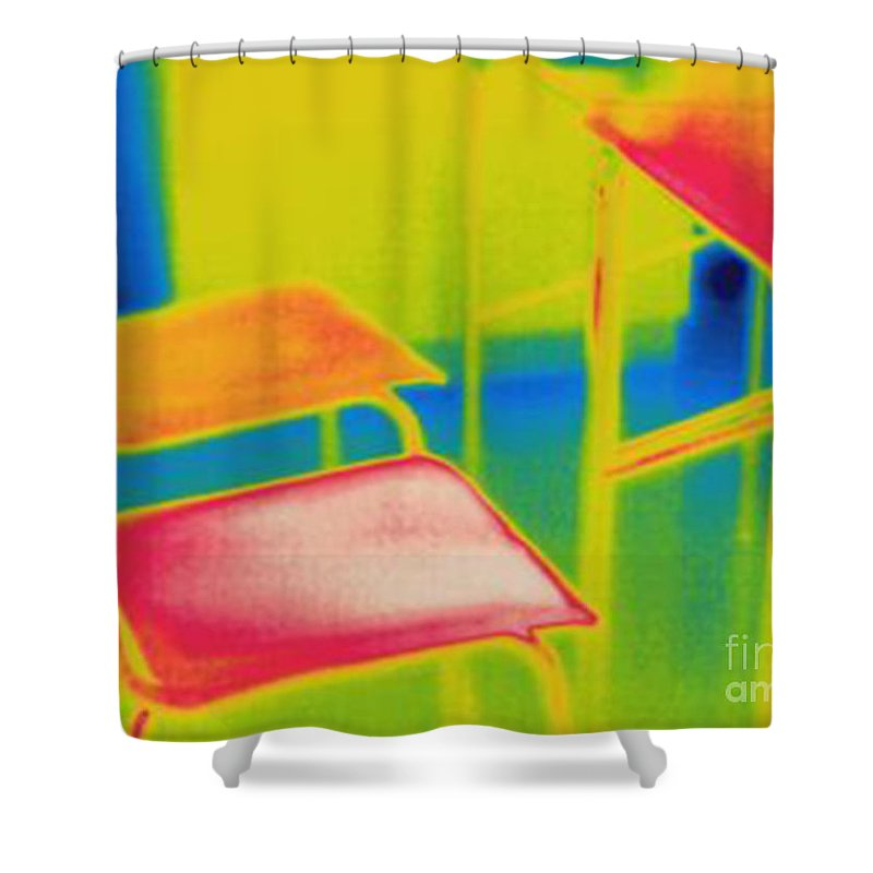 Thermogram Shower Curtain featuring the photograph Thermal Shadow by Ted Kinsman