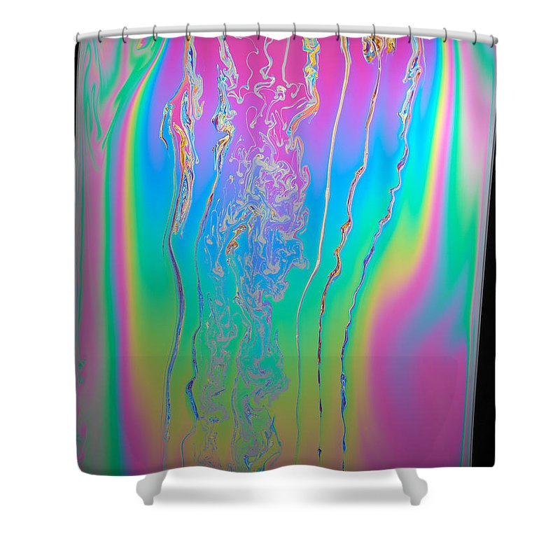 White Light Shower Curtain featuring the photograph Thin Film Optical Interference by Ted Kinsman