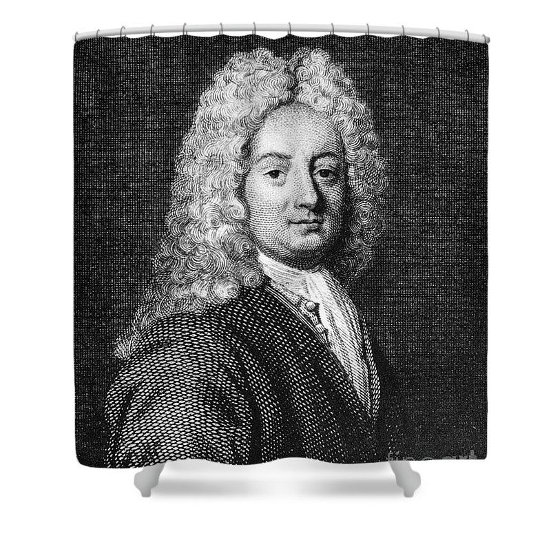 18th Century Shower Curtain featuring the photograph Thomas Forster (1675-1738) by Granger