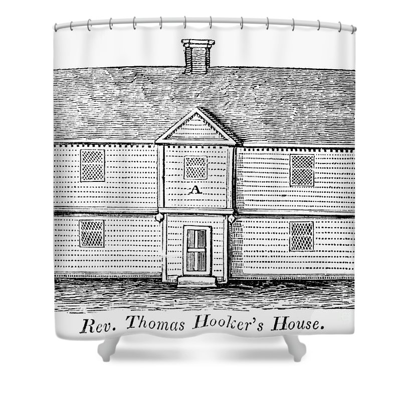 17th Century Shower Curtain featuring the photograph Thomas Hooker (1586-1647) by Granger