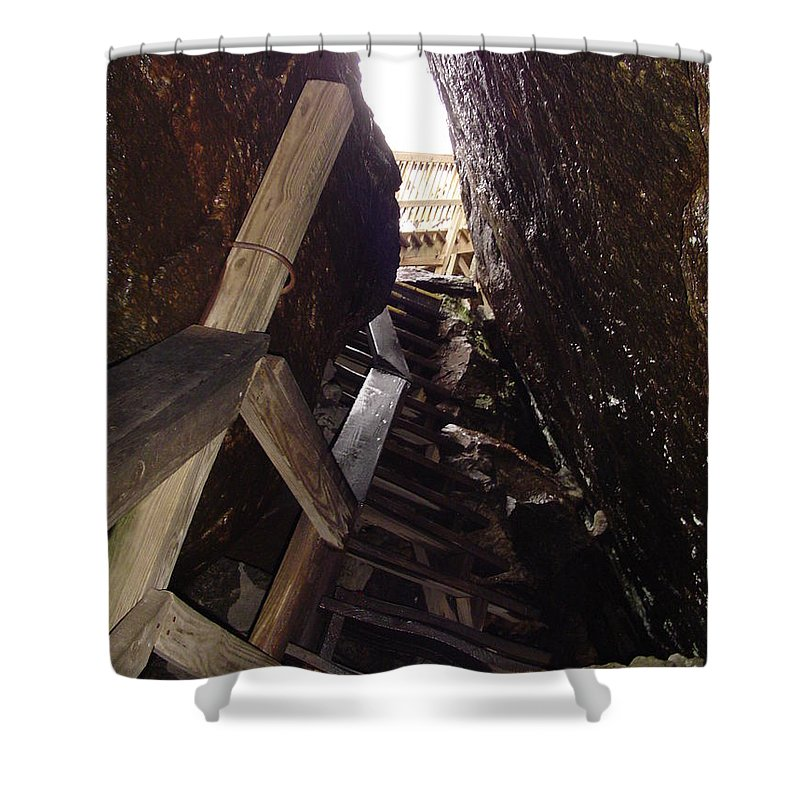 Stairs Shower Curtain featuring the photograph Tight Fit by Michael MacGregor