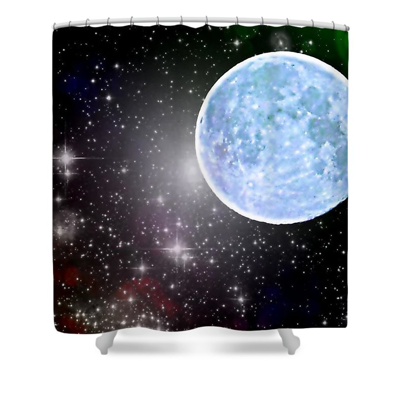 Blue Moon Shower Curtain featuring the photograph Time Travel by Marianna Mills