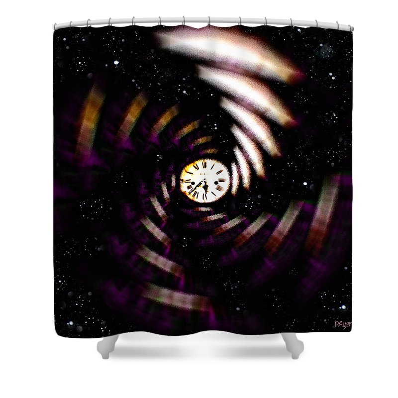 Digital Art Shower Curtain featuring the digital art Time Traveler by Paula Ayers