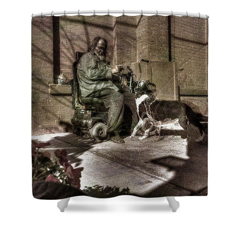Acrylic Prints Shower Curtain featuring the photograph Time Warp Border Collie by John Herzog