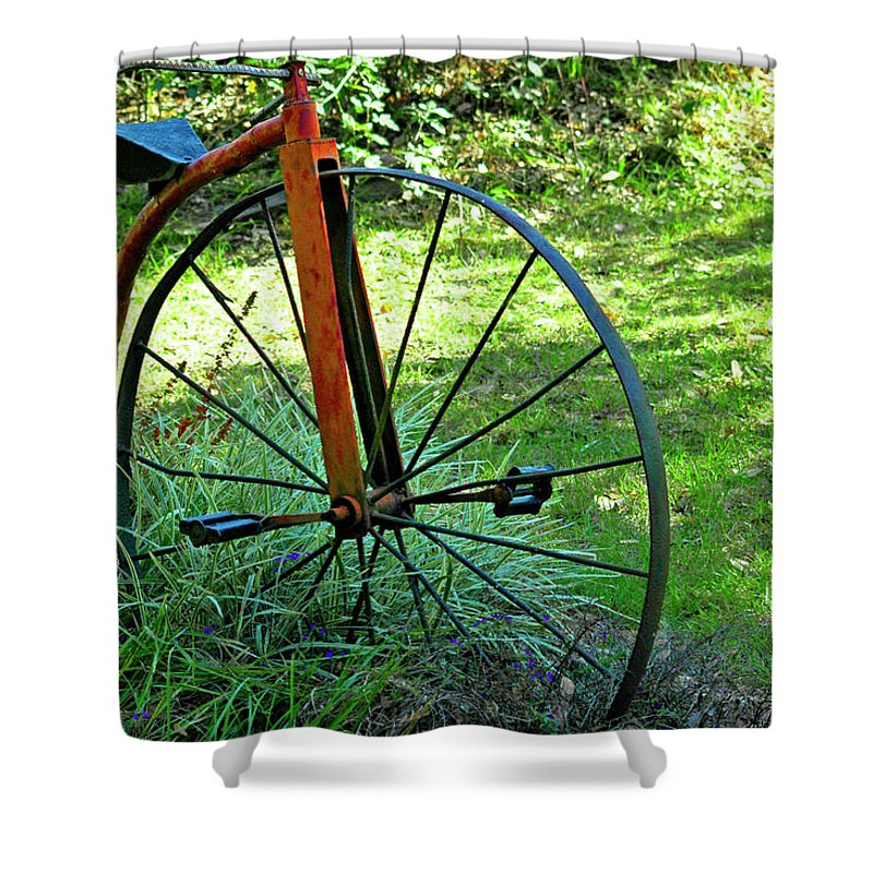 Antique Shower Curtain featuring the photograph Times Gone By by Carolyn Marshall