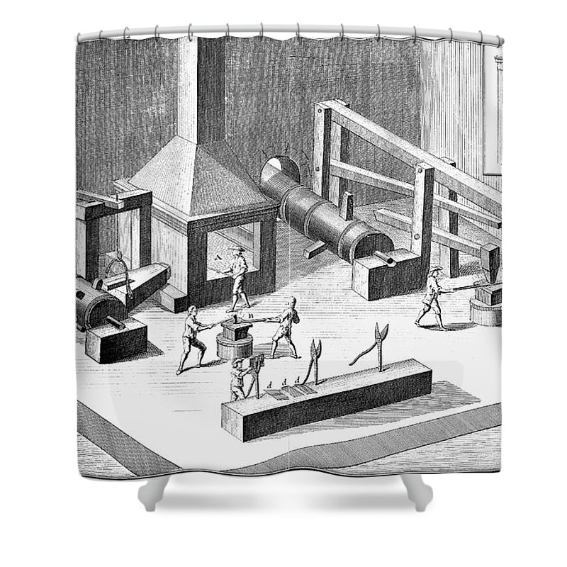 18th Century Shower Curtain featuring the photograph Tin Plate Manufacture by Granger