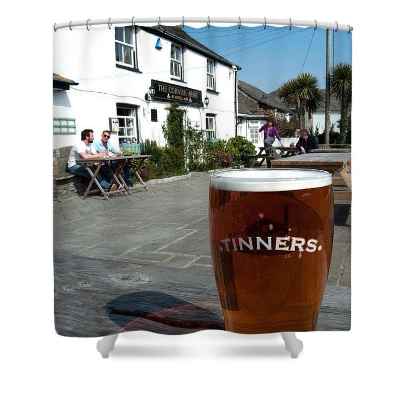 Beer Shower Curtain featuring the photograph Tinners by Rob Hawkins