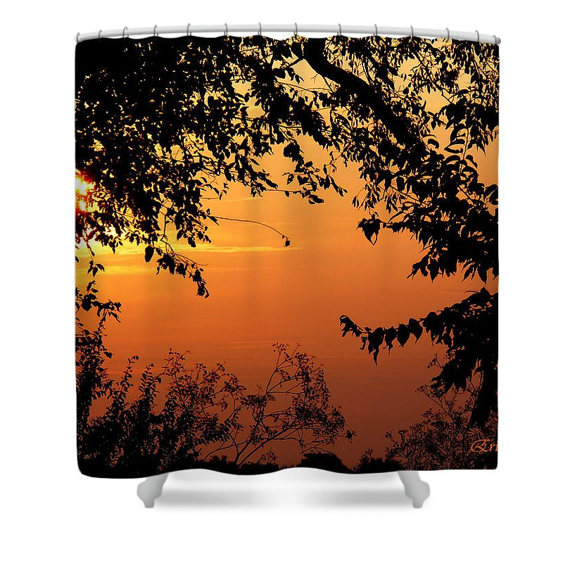 Tn Shower Curtain featuring the photograph Tn Sunrise by Ericamaxine Price