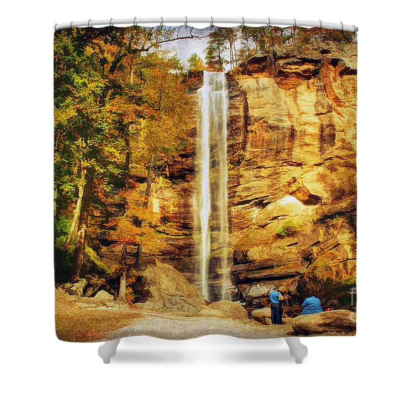 Adventure Shower Curtain featuring the photograph Toccoa Falls by Darren Fisher