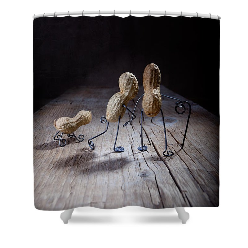Peanut Shower Curtain featuring the photograph Together 04 by Nailia Schwarz