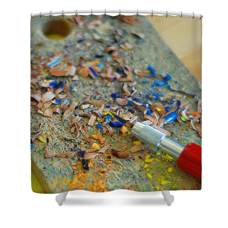 Tools Of The Trade Shower Curtain featuring the photograph Tools Of The Trade by Lisa Phillips