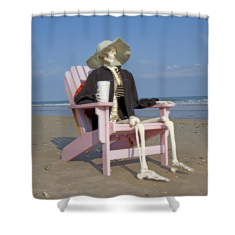 beautiful Pirate Shower Curtain Part - 11: Topsail Shower Curtain featuring the photograph Topsail Island Beach Pirate  by Betsy Knapp