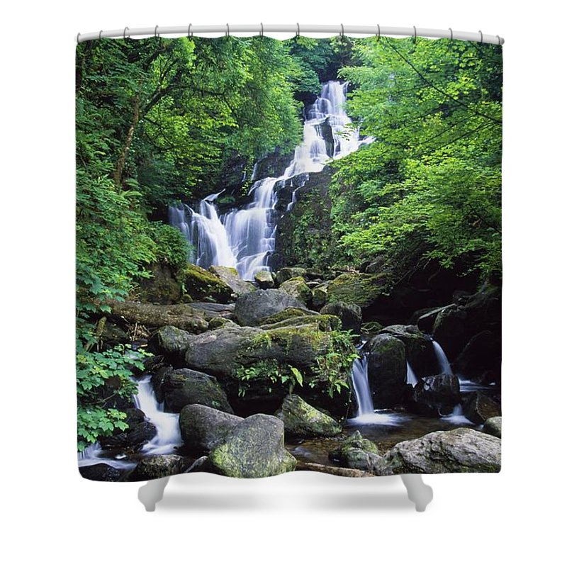 Ireland Shower Curtain featuring the photograph Torc Waterfall, Killarney National by Gareth McCormack