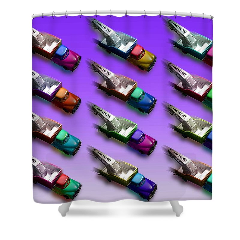 Breakdown Shower Curtain featuring the painting Tow The Line Dance by Charles Stuart