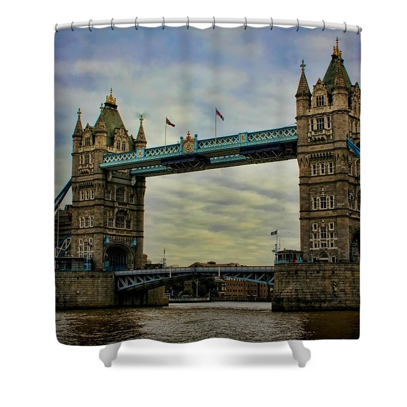 Tower Bridge Shower Curtain featuring the photograph Tower Bridge London by Heather Applegate