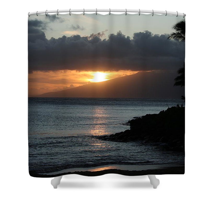 Sunset Shower Curtain featuring the photograph Tranquility At Its Best by Patricia Haynes