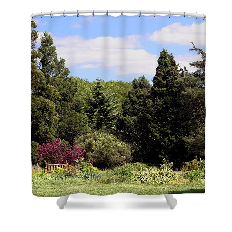 Scenic Shower Curtain featuring the photograph Tranquility by Living Color Photography Lorraine Lynch