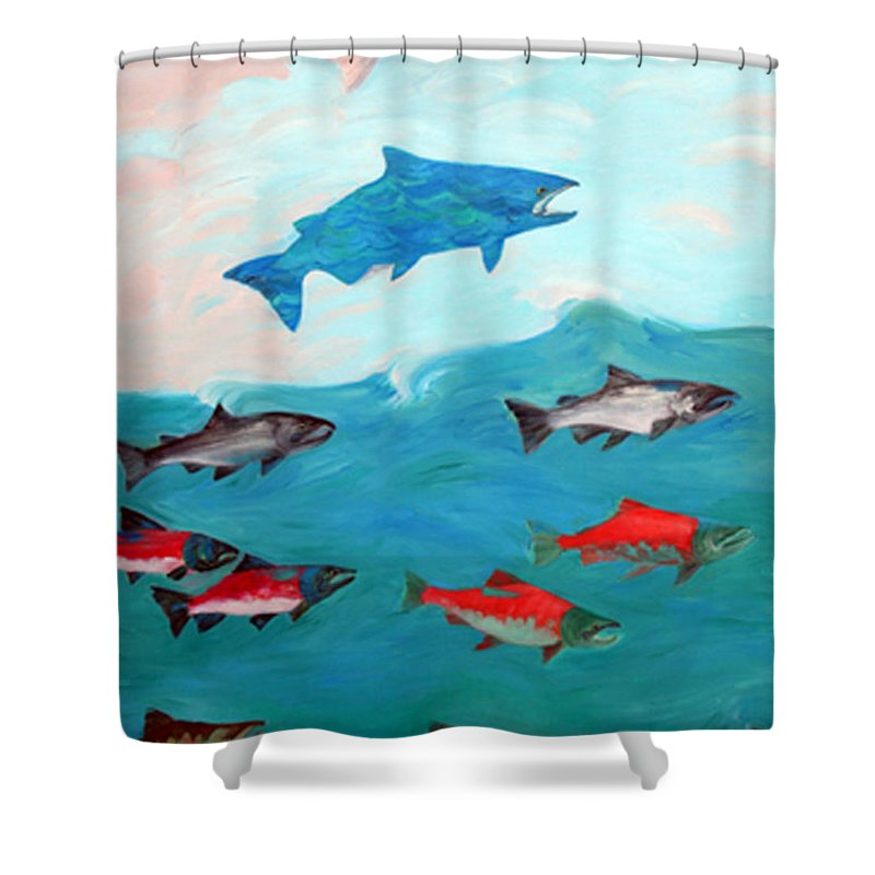 Water Shower Curtain featuring the painting Transformation by Lisa Baack