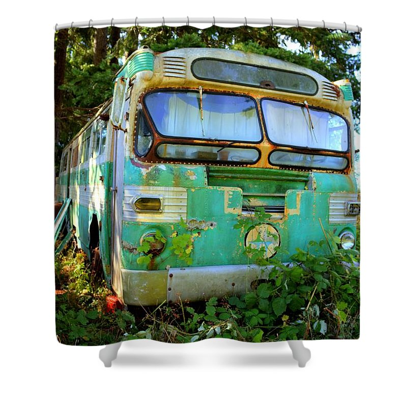 Shower Curtain featuring the photograph Transit Bus by Danielle Silveira