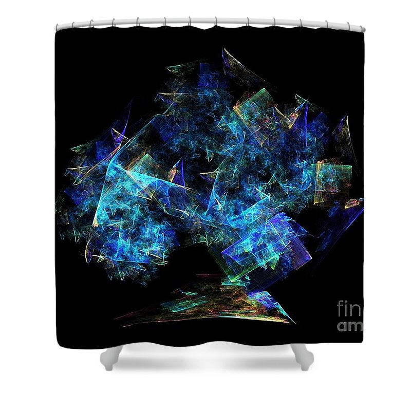 Tree Shower Curtain featuring the digital art Tree Of Knowledge by Klara Acel