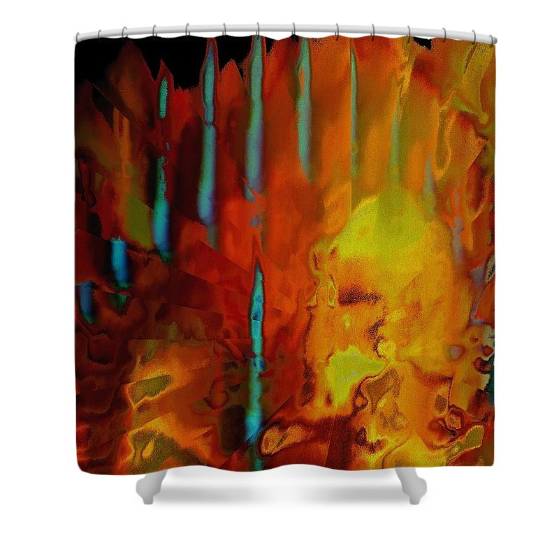 Abstract Shower Curtain featuring the photograph Tribal Tribute by Renate Nadi Wesley
