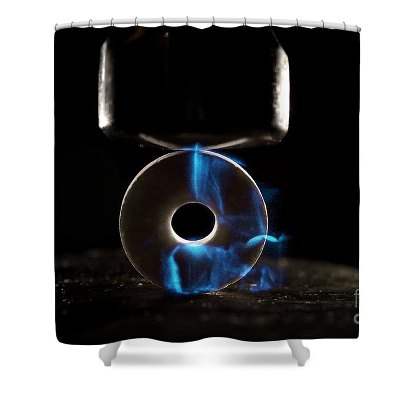 Candy Shower Curtain featuring the photograph Triboluminescence by Ted Kinsman